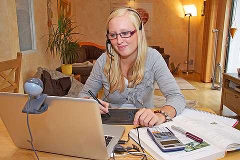 Lernen von zuhause am Computer