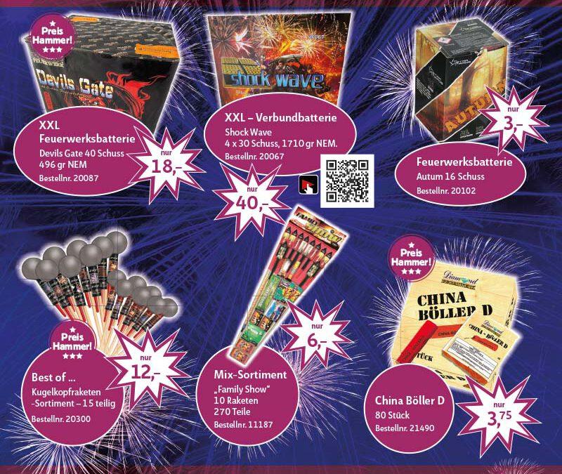 Großer Feuerwerk Lagerverkauf bei Diamond Feuerwerk